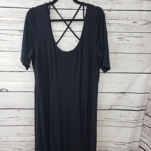 Black Eloquii cross back dress size 16
